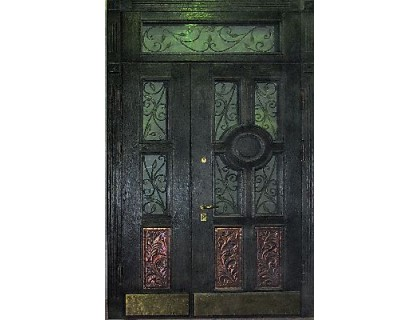 Входная металлическая дверь массив модель 45