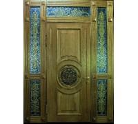 Входная металлическая дверь массив модель 55