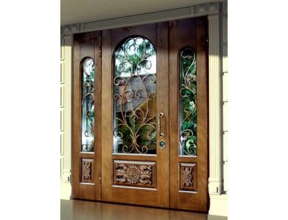 Входная металлическая дверь массив модель 91